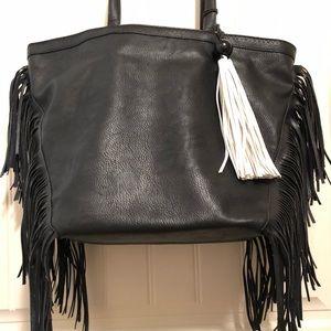 Sam Edelman Bags - Sam Edelman Weston Tote W/Fringe Black Handbag